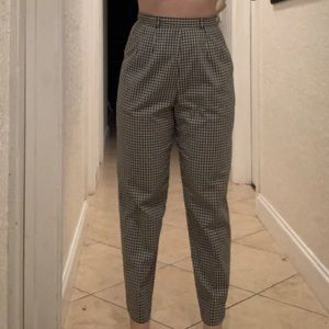 TALBOTS Plaid High waist Pants